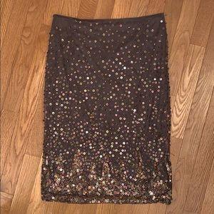 Brown Knee Length Skirt
